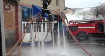 Le temps libre des pompiers russes