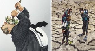 20 illustrazioni che mostrano con brutale onestà cosa c'è di storto nella nostra società
