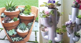 12 modos de ordenar las macetas de tu jardin al cual no habias jamas pensado antes