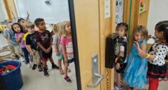 Diese Kinder kommen in einem schlechten Zustand in der Schule an: also beschlossen die Lehrer einen besonderen Schrank einzurichten