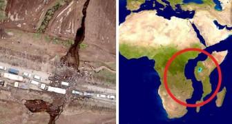 De grond in Kenia splijt in tweeën en de indrukwekkende beelden van de breuk die voor een nieuw continent gaat zorgen