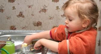 Far sbrigare ai bambini alcune faccende domestiche li farà essere degli adulti di successo