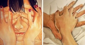 Cette illustratrice parvient à montrer toute la beauté du contact physique