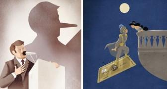Cet illustrateur parvient à montrer la triste réalité du monde moderne