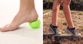 Piernas de para ejercicios y dolor pies