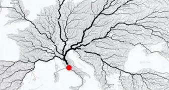 Alle wegen leiden naar Rome: deze kaart lijkt te bewijzen dat het oude gezegde overeenkomt met de werkelijkheid