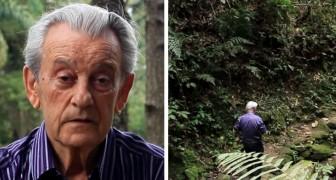 Voici l'homme qui a planté de ses propres mains 50 000 arbres et qui vit maintenant dans sa jungle