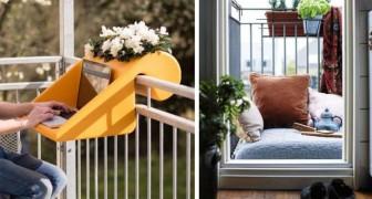 20 ideias brilhantes para transformar uma pequena sacada em um lugar lindo