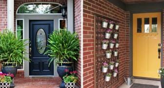 17 creazioni floreali da mettere all'ingresso di casa per accogliere gli ospiti nel più piacevole dei modi