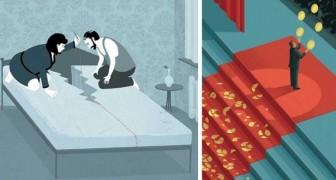 16 Illustrationen die eine brutale aber ehrliche Sicht auf unsere Gesellschaft bieten