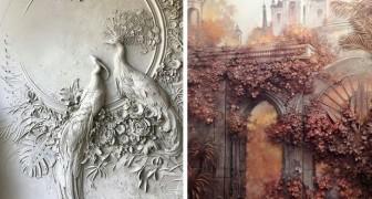 Cet homme utilise l'art ancien du bas-relief pour donner vie aux murs : l'effet est magnifique
