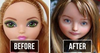 Deze Oekraïense kunstenares verwijdert make-up bij poppen en ontwerpt de gezichten opnieuw: het eindresultaat is ongelooflijk realistisch