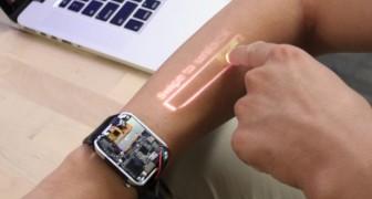 Ecco l'orologio che trasforma la pelle del braccio nello schermo del tuo smartphone