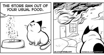 Sa femme l'a persuadé de publier ses vignettes sur leur chat : les planches de cet artiste sont trop drôles