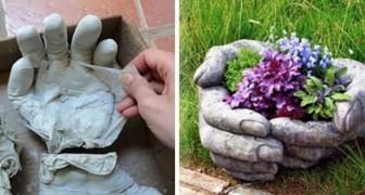 Vuoi realizzare un vaso davvero unico per il tuo giardino o terrazzo? Prova queste mani fai-da-te!