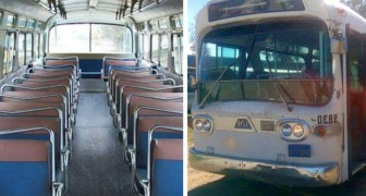 Ze doet er 3 jaar over om een oude bus om te bouwen tot een huis: het eindresultaat is volkomen onverwacht
