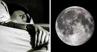 In alcuni periodi fai fatica ad addormentarti? Probabilmente è colpa della Luna