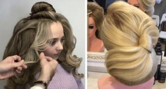Peu d'étapes pour réaliser cette coiffure parfaite : l'habilite de ce coiffeur est étonnante.