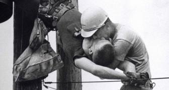 De kus die z'n leven redde: het achtergrondverhaal van de memorabele foto die de Pulitzer-prijs won in 1968