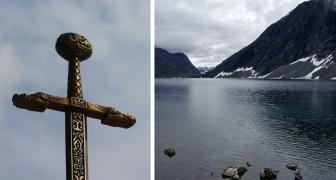 Ein riesiges Schwert aus dem Jahr 1500 stammt aus den Gewässern eines norwegischen Sees