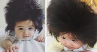 Ce nouveau-né n'a que 7 mois mais elle est déjà célèbre avec ses cheveux hors du commun.