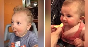 Niños que prueban comida asperas por primera vez: sus reacciones son delirantes