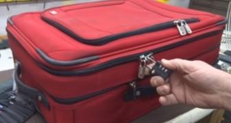 Dieser Koffer scheint sicher, doch was dieser Mann mit einem Stift macht, wird euch überraschen