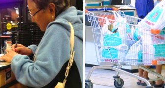 The cashier offends an elderly woman because she does not use ecological bags: she silences it brilliantly