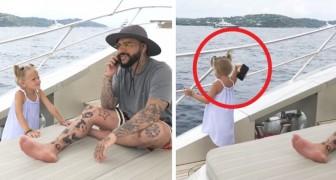 Une fillette de 4 ans jette le téléphone portable de son père à la mer parce qu'il n'arrêtait pas de l'utiliser pendant ses vacances.