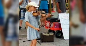 Den här 9 åriga flickan spelar Despacito med hjälp av sin fiol och har fångat miljontals människor
