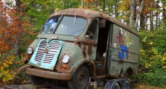 La première camionnette historique du groupe Aerosmith a été trouvée dans une forêt, 40 ans après sa dernière utilisation