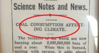 Il y a 106 ans, un article de journal mettait en garde contre le changement climatique et prédisait l'avenir