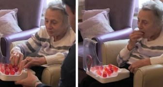Een man vindt Eetbaar water uit om oudere patiënten te helpen gehydrateerd te blijven