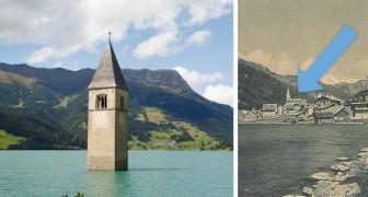 Questa è la triste storia del famoso campanile che emerge dal lago di Resia