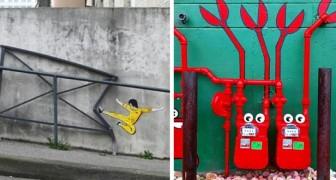 21 voorbeelden van street art die je ertoe bewegen anders te gaan kijken naar een stad