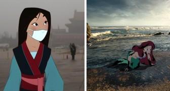 Les personnages de Disney insérés dans le monde d'aujourd'hui : les dessins de cet artiste réveillent les consciences de nous tous