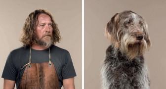 Deze fotograaf zet baas en hond naast elkaar en dat ze op elkaar lijken valt niet te ontkennen!