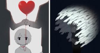 Queste illustrazioni raccontano alcuni sentimenti molto comuni... di cui non parliamo quasi mai