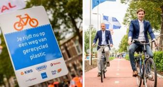 È stato appena inaugurato il primo tratto di strada realizzato con plastica riciclata