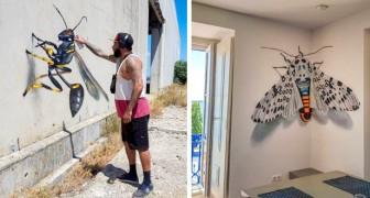 Questo artista crea graffiti che vanno oltre le 2 dimensioni... E sono incredibilmente reali