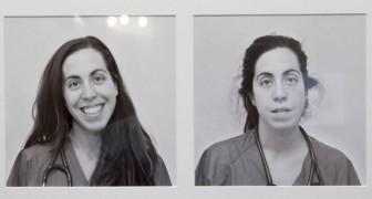 Läkare som fotats före och efter ett 24 timmars-skift på akuten: detta är vårdens verkliga ansikte