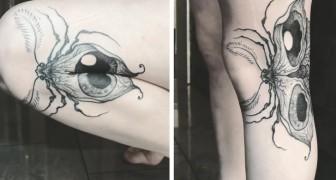 Deze kunstenaar maakt tattoo's die tot leven komen wanneer je je lichaam beweegt: hier kan je ze in actie zien
