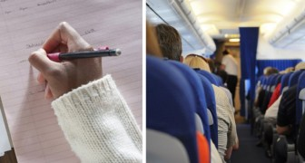 A flight attendant finds a note in the bathroom of the airplane and understands that a passenger is in grave danger!