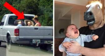 12 fotos de pessoas que certamente não vão ganhar o prêmio de melhores pais do ano