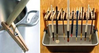Vous utilisez les pinces à linge que pour accrocher vos vêtements ? Voici 23 utilisations qui vous ont échappé.