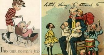 Queste cartoline del secolo scorso mostrano i pericoli del dare alle donne il diritto di voto