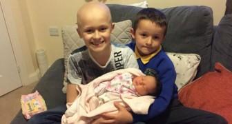 Un niño combate hasta lo ultimo de su enfermedad para poder conocer a su hermanita