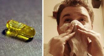 La Vitamina D riduce fino al 50% il rischio di contrarre l'influenza stagionale