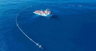 Die Ozeanreinigungsanlage ist gerade fertig getestet und befindet sich bereits auf dem Weg zur Pacific Plastikinsel.