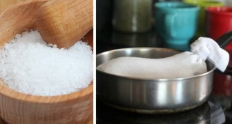 Hot salt, a natural and economical remedy against colds and neck pain